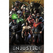 Trends International Unframed Poster Prints, Injustice Grid
