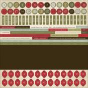 St. Nicholas Cardstock Stickers 30cm x 30cm -Numbers & Phrases