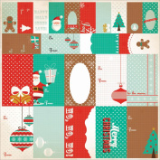 Gingerbread Perforated Tags 30cm x 30cm Sheet-To