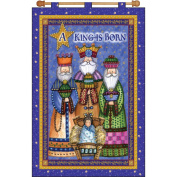 A King Is Born Jewelled Banner Kit-41cm x 60cm