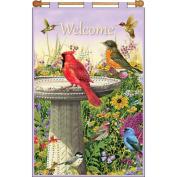 Bird Welcome Jewelled Banner Kit-41cm x 60cm