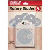 TrueCut Rotary Cutter Replacement Blades-45mm 5/Pkg