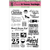 Hot Off The Press Acrylic Stamps 15cm x 20cm Sheet-Smart & Sassy Sayings