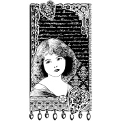 Crafty Individuals Unmounted Rubber Stamp 12cm x 18cm Pkg-Young Girl Dreaming