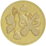 Large Decorative Seal Coin .250cm -Butterflies & Hearts