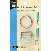 Key Fob Hardware Set-Nickel
