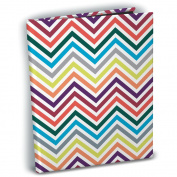 Mini Photo Album 10cm x 15cm Holds 24 Photos-Chevron Rainbow