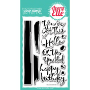 Avery Elle Clear Stamp Set 10cm x 15cm -Brushed