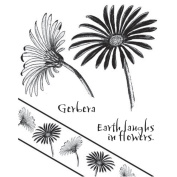 Chapel Road Cling Mounted Rubber Stamp Set 15cm x 17cm -Angle Gerbera