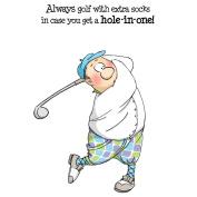 Art Impressions People Cling Rubber Stamps 18cm x 10cm -Gordon Golfer Set