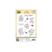 JustRite Papercraft Cling Stamp Set 14cm x 22cm -Christmas Inner Thoughts 11pcs