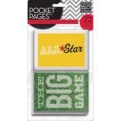 Me & My Big Ideas Pocket Pages Themed Cards 7.6cm x 10cm 72/Pkg-Sports
