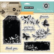 Hero Arts Adventures In Cardmaking & Journaling Cling Stamps-Forever 20cm x 15cm