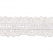 Double Ruffle Balloon Lace 5.1cm - 1.3cm Wide 12 Yards-White