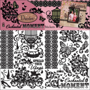 Dazzles Stickers 3/Pkg-Black Enchanted Moment
