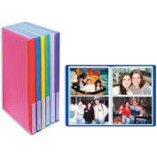 Space Saver Pocket Bound Photo Album, Solid Colour Covers with Clear Pocket, Holds 72 4x6 Photos, 2 Per Page. Colour