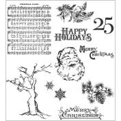 Tim Holtz Cling Rubber Stamp Set 18cm x 22cm -Mini Holidays #3