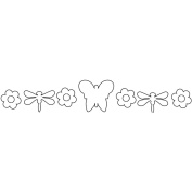 Clear Acrylic Butterfly Banner-Butterfly 7pc