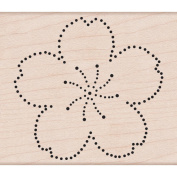 Hero Arts Mounted Rubber Stamps 7cm x 8.3cm -Dot Flower