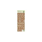 K & Company Engraved Garden Alphabet Adhesive Chipboard