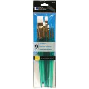 Loew Cornell 2115 Brush Set, White Nylon
