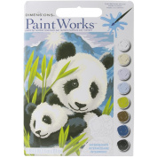 Dimensions Crafts Paintworks Paint by Number Kit, Panda and Cub