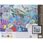 Dimensions Paintworks Paint by Numbers Sea Turtles Paint Kit