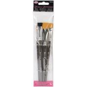 Donna Dewberry Acrylic Brush Set 4pc-Liner#2,Flat#12,Scruffy1/5.1cm ,Flat3/10cm