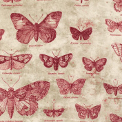 Freespirit Fabrics Eclectic Elements-Tim Holtz 110cm Butterflies 100-Percent Cotton, Red, 8-Yard