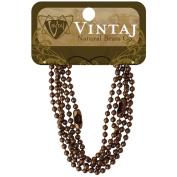 Vintaj Metal Chains 18 2/Pkg - Ball Chain 3.2mm