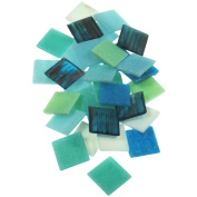 Vitreous Glass Mosaic Tile 2.5lb-Horizon Mix