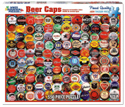 White Mountain Puzzles 550-Piece Jigsaw Puzzle, Beer Bottle Caps