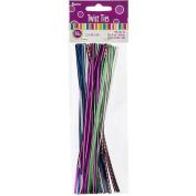 Twist Ties 18cm 50/Pkg-Multicolor