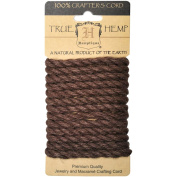 Hemp Rope 6mm 6.56'/Pkg-Brown