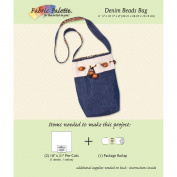 "Fabric Editions Design Sheet/Project Card-Denim Shoulder Bag 29cm x 27cm X4"""