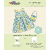 Fabric Editions Design Sheet/Project Card-Blue Dress And Tote