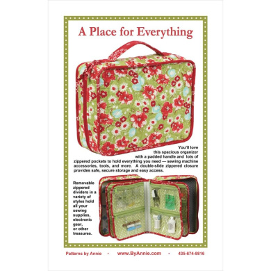 Patterns By Annie - A Place For Everything (Sewing Pattern)