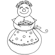 Penny Black Mounted Rubber Stamp 5.1cm x 5.7cm -Christmas Cookies