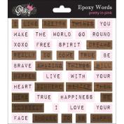 Pretty In Pink Epoxy Stickers
