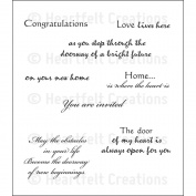 Heartfelt Creations Cling Rubber Stamp Set 13cm x 17cm -Door To My Heart
