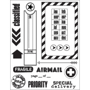 Clear Stamps 14cm x 19cm Sheet-Par Avion