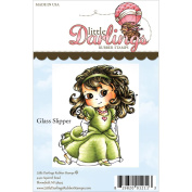 Cutie Pies Unmounted Rubber Stamp 7cm x 8.3cm -Glass Slipper