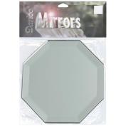 Octagon Glass Mirror W/Bevel Edge 10cm -1/Pkg