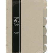 Totally Exposed Album Chipboard Divider Pages 23cm x 30cm 6/Pkg-