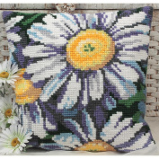 Marguerites Pillow Cross Stitch Kit-38cm - 1.9cm x 40cm