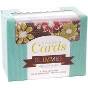 American Crafts A2 Cards & Envelopes (11cm x 15cm ) 40/Box-Glimmer