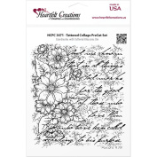 Heartfelt Creations Cling Rubber Stamp Set 13cm x 17cm -Tattered Collage