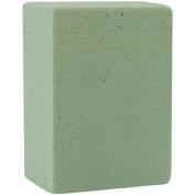 Floracraft Dry Foam Block, 4.8cm x 7.1cm x 9.8cm , Green Multi-Coloured