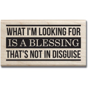 Mounted Rubber Stamp 6.4cm x 6.4cm -Blessing Not In Disguise