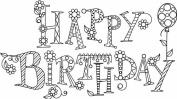 Mounted Rubber Stamp 6.4cm x 6.4cm -Sparkle Happy Birthday